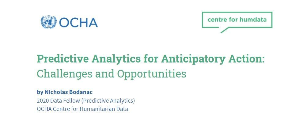 Click to download full report on predictive analytics for anticipatory action