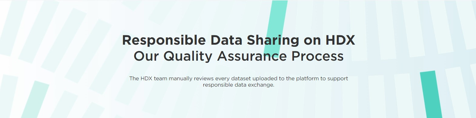 Responsible Data Sharing on HDX banner