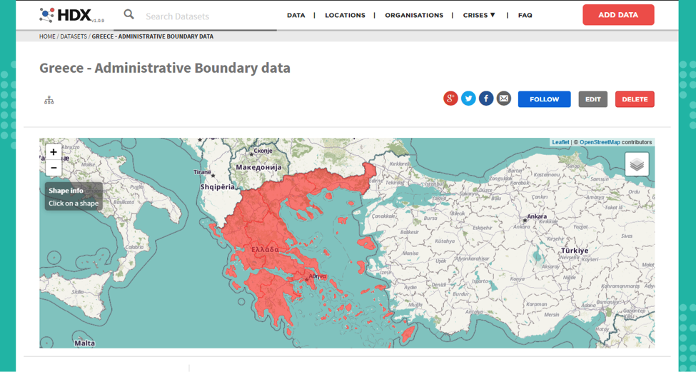 Greece - Administrative Boundary data